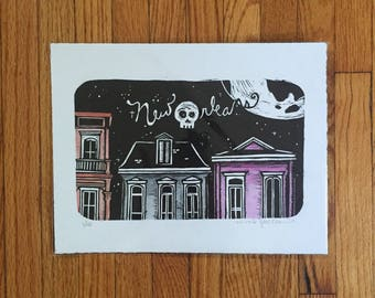 Nola Block Print