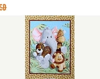 Zoo Animals Quilt Panel--Great for Baby Quilts-Low Price