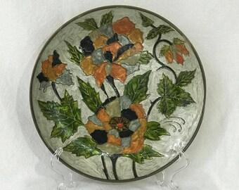 Enamel Cloisonne Wall Hanging Plate