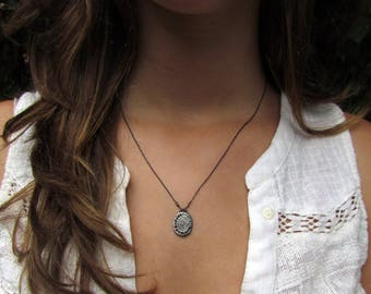 Custom Order For Sybille -  5 Oxidized Silver Necklaces