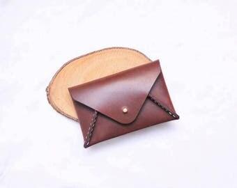Ho-Ho-Sew Genuine Leather Envelope Shape Card Case Card Holder Card Wallet DIY Kit