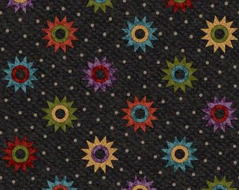Flannel Black Quilt Fabric Maywood Stars F8603M J Quilting Sewing quilts Fabric by the yard Cotton Primitive