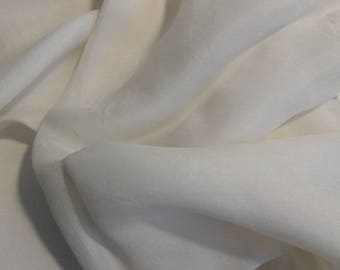 Square white vintage scarf