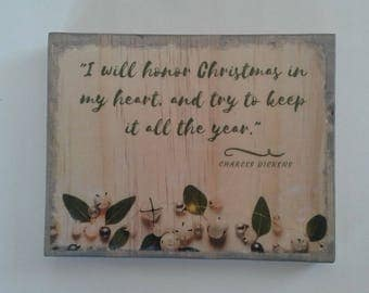Christmas wood sign, Christmas wooden plaque, Christmas decor, Christmas quote, Christmas wall decor, Christmas Wall Art