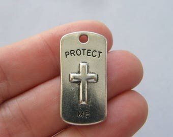 6 Protect me charms antique silver tone R14