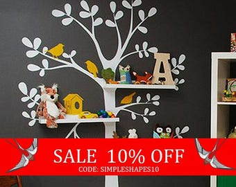 Summer Sale - Wall Decals Nursery - The Original Shelving Tree Wall Decal - Nursery Decor