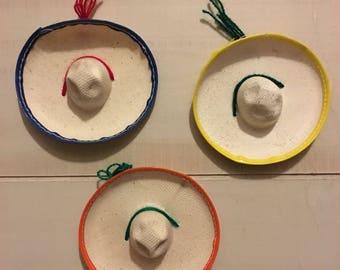 25 (MH010) Mini Mexican Sombrero Hat