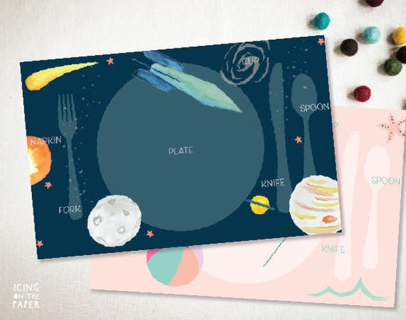 Printable Placemats for Kids
