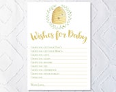 Printable Bee Baby Shower Activity- Wishes for Baby