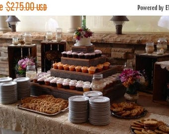 pickle me sale 4 tier rustic cupcake stands wedding decor cupcake stand wedding