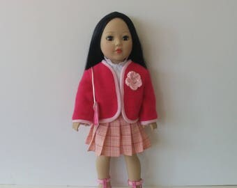 Classic Jacket and Pleated Skirt for American Girl and other 18 inch Dolls