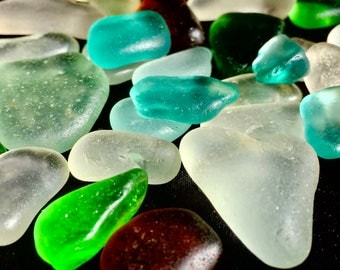 A-Sea Glass! Beach Glass! of HAWAII Beaches BLUE! SALE!  Only 29 Dollars! Sea glass for Jewelry! Sea Glass Bulk! Seaglass! Genuine Sea Glass