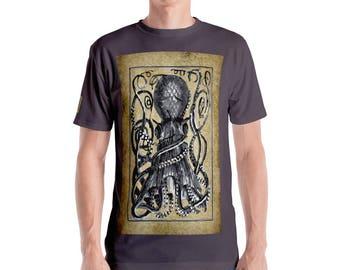 The Kraken- Giant Octopus, Scurge of the Sea/ Men's T-shirt