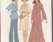 Misses Caftan ~ Dress ~ Top Pattern - Simplicity 7588 Medium 12 - 14 - Front Yoke - Band Stitch Tie Ends ~ Set In Sleeves ~ Factory Folded