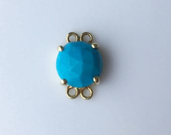 Turquoise connector charm.