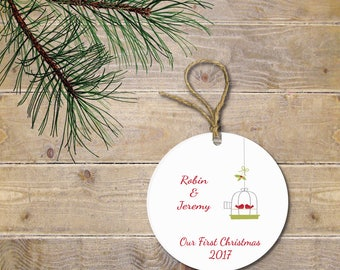Christmas Ornament, First Christmas Together, First Christmas Married, Love Birds, Our First Christmas, Wedding Gift, Bridal Shower Gift