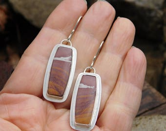 Scenic Sonora Dendritic Jasper and Sterling Silver Earrings