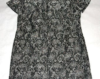 Fab 50's/60's Sparkly Metallic Thread Knit Holiday Dress- Size M