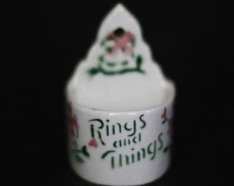 vintage ceramic ring holder