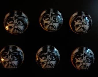 Glow in the Dark Handmade Knobs Drawer Pull Star Wars Darth Vader  Dresser Knob Pulls Switch Plate Covers to Match in Shop
