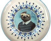 """Sylvia Sloth Portrait Platte 10,15"""""""