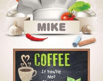 Coffee Digital Personalized PDF Download Posters
