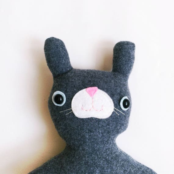 Mister Bunnypants in Grey Wool - READY TO SHIP