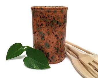 Kitchen Utensil Holder in Caramel Brown - Small