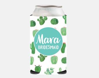 Cactus Bridesmaid Gift Ideas Bachelorette Party Wedding Can Coolers Bachelorette Party Gift Ideas Bridesmaid From Bride Wedding Party Gift
