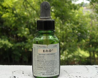 Vintage ERO Ear Drops Bottle