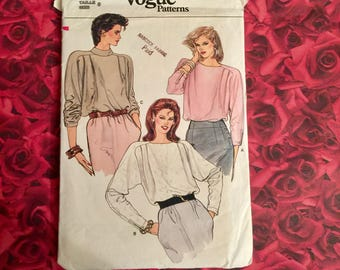 80's Vintage Blouse Sewing Pattern