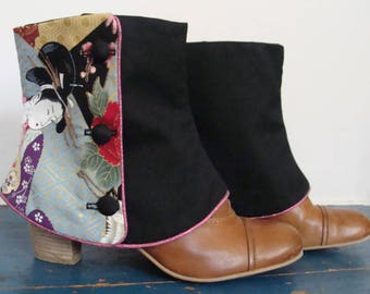 SHORT LEGGINGS black and geisha