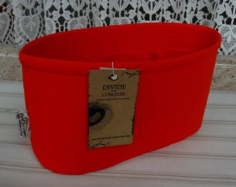 Orange / Purse insert ORGANIZER SHAPER / 5 sizes available / Oval / STURDY / Bag Organizer / Check out my shop for more colors & styles