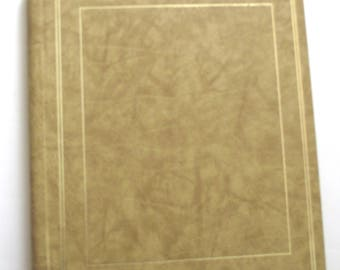 Panoramic Photo Album, Vintage Album in Tan has Sleeves Sized for Panorama Photographs (F1)