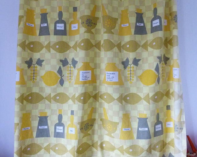 Vintage cotton curtains perfect for the kitchen or as fabric