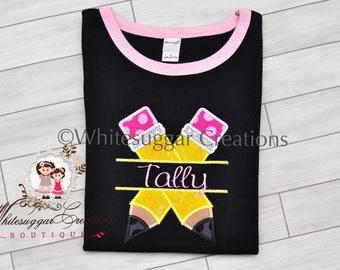 Girls Back To School Shirt - Girl Pencil Shirt - Baby Girl Shirt - Personalized Back To School Outfit - Baby Girl Pencil Shirt