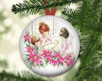 angel christmas ornaments - angel ornaments for christmas tree - christmas angel decorations - holiday decorating ideas - ORN-37