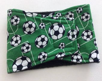 Belly Bands for Male Dogs - Belly Band - Male Dog Diapers - Male Dog Belly Band - Green with Soccer Balls - Available in all sizes