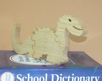 Toy for Child - Wooden Dinosaur Puzzle - Child's Decor - Kid's toy
