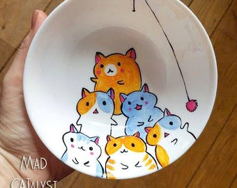 The only way is UP  - Handpainted porcelain plate  -  Mad CATalyst series
