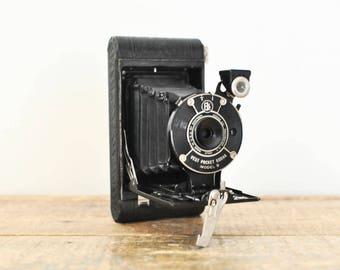 Antique Kodak Folding Camera Vest Pocket Model B Collectible Photography Decor Display