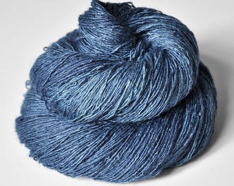 Bluebird being no more - Tussah Silk Lace Yarn