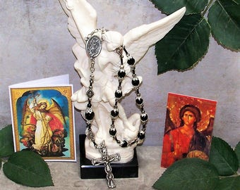 St. Michael, the Archangel, One-Decade Catholic Rosary, Angel Rosary, Archangel Michael, Heirloom Rosary Chaplet