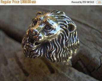 ON SALE Lion ring handmade in sterling silver