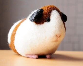 Guinea pig toy, Handmade wool Cavy, Home decor, BinneBear Collection, ECO friendly, OOAK