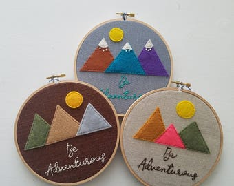 Be Adventurous Hoop Art