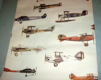 Roll Vintage Airplane Wallpaper