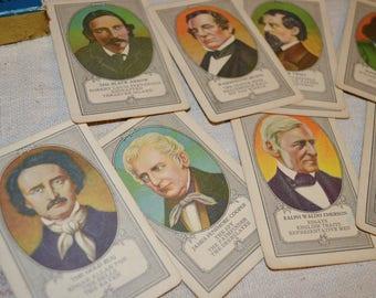 Vintage Authors Cards Game 45 Piece Complete Deck