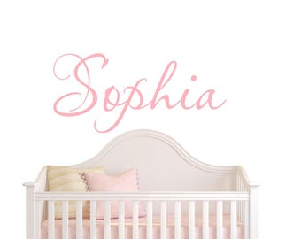 Vinyl Wall Decal Personalized Childrens Wall Decal - Girls Name Wall Decal  Personalized Name Decal