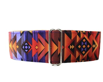 Purple Martingale Collar, 2 Inch Martingale Collar, Wide Dog Collar, Aztec Martingale Collar, Aztec Dog Collar, Purple Dog Collar